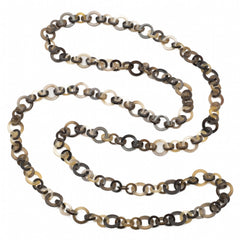 Long Honey Buffalo Horn Flat Chain