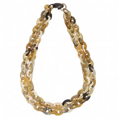 Buffalo Horn Short Double Chain