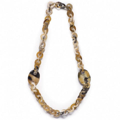 Buffalo Horn Circle Link Necklace