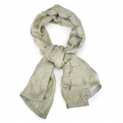 Felted wool + silk scarf