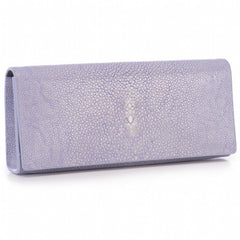 Cleo- Genuine shagreen clutch bag-Iris