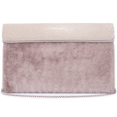 Holly  Large Fold Top Clutch with Chain