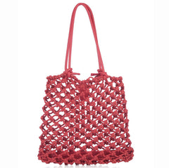 ISA knotted tote bag leather handles