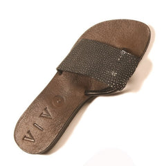 GINGER SHAGREEN SANDAL 39 BLACK