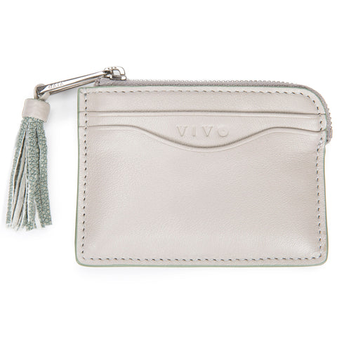 AVERY, Card Pouch, Ecru