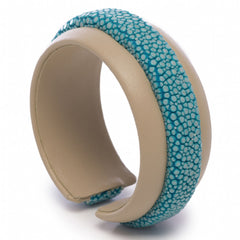 Shagreen Raised Center Cuff