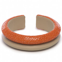 Shagreen Raised Double Band Cuff