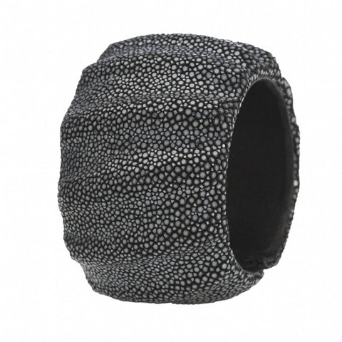 3 Dimensional Shagreen Cuff - Black