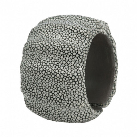 3 Dimensional Shagreen Cuff - Gray
