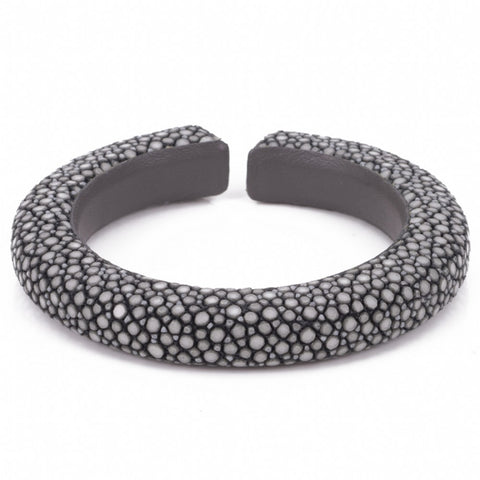 Narrow flexible shagreen cuff- Gray