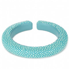 Narrow flexible shagreen cuff- Turquoise