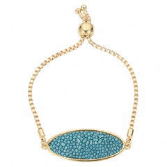 Box Chain Friendship Bracelet, Gold / ocean