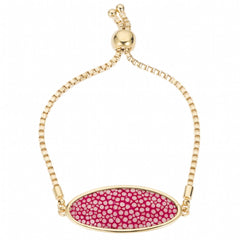 Box Chain Friendship Bracelet, Gold / pink