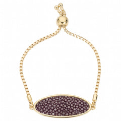 Box Chain Friendship Bracelet, Gold / plum