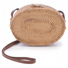 Oval Rattan Cross Body