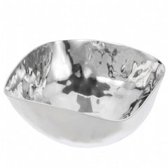 Small Hammered Stainless Steel Square Bowl