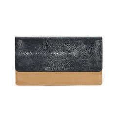 BEA Envelope Wallet-Tan/Black