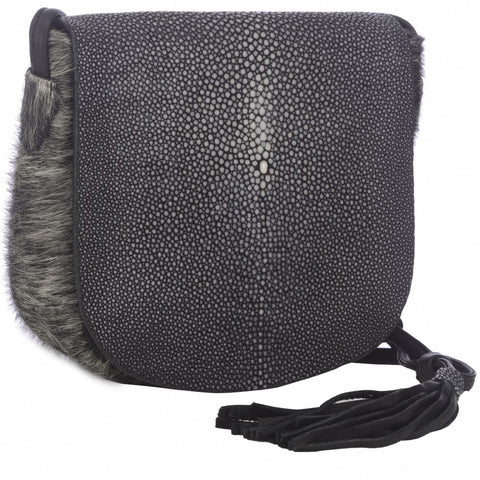 Liz- Black-Cross Body with tassel