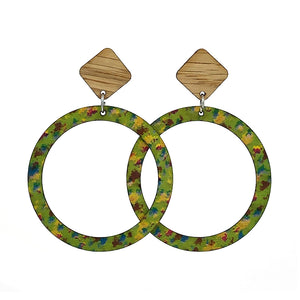 Oak and Birch Printed Hoop Earrings