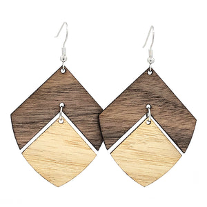 2-Layered Leaf Hinged Earrings