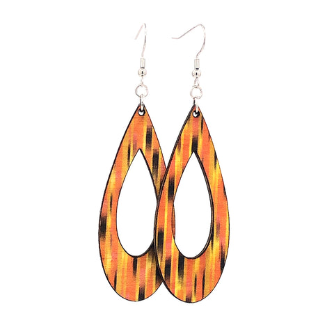 Open Teardrop Dangle Earrings