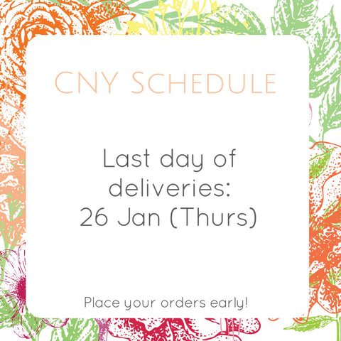 Delivery Schedule for CNY