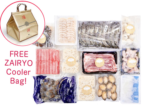[Free ZAIRYO Cooler Bag] 大福袋 Large Steamboat/BBQ Pack (for 4 to 6 pax)