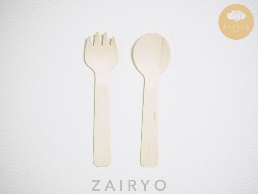 Biodegradable Disposable Wooden Dessert Fork - Tableware