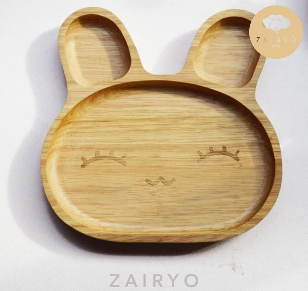 Bunny Dish Tray / Delighted Bunny Plate - Tableware