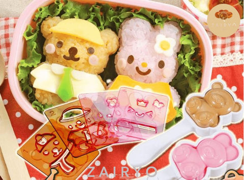 Kawaii Bear & Rabbit Rice Mold