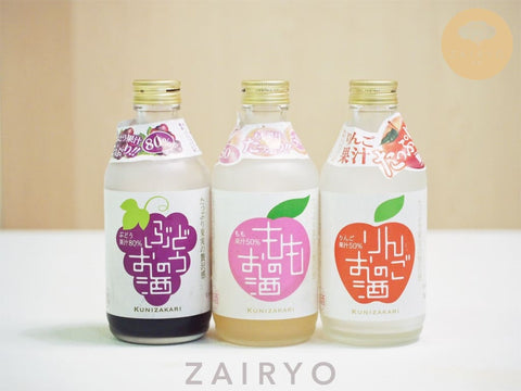 Nakano Shuzo Fruit Sakes (in 3 flavours - Apple, Momo & Grape!)