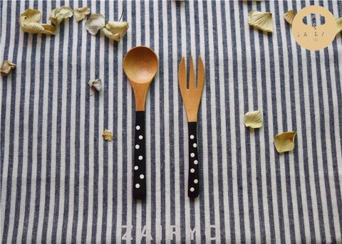 Polka Dot Dessert Spoon