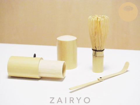 [ZAIRYO Exclusive] Matcha Tea Whisk Set / 抹茶道具セート