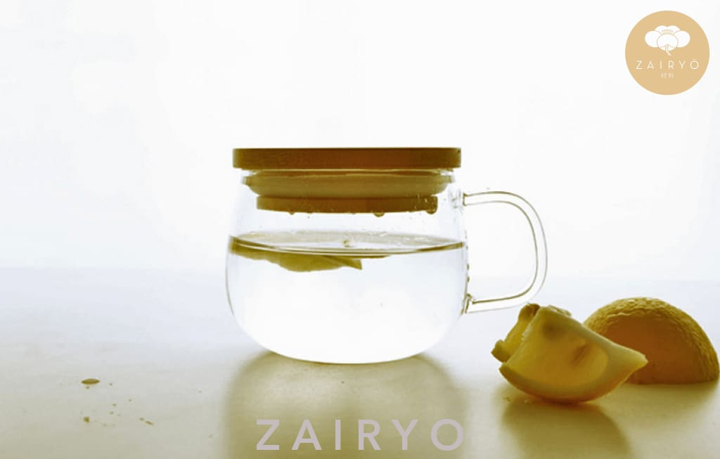 Zairyo Glass Cup With Wooden Lid - Tableware