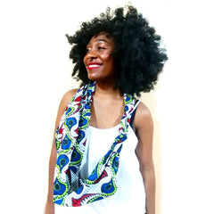 African Paisley Double Knot Infinity Scarf