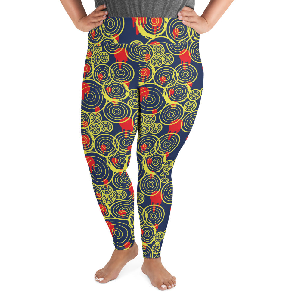 Vortex All-Over Print Plus Size Leggings