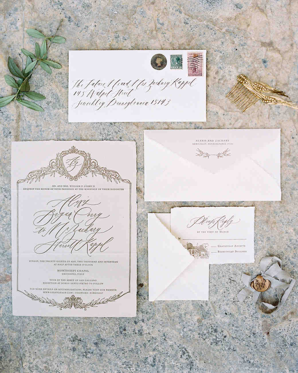 wedding invitations for a fashionable fete
