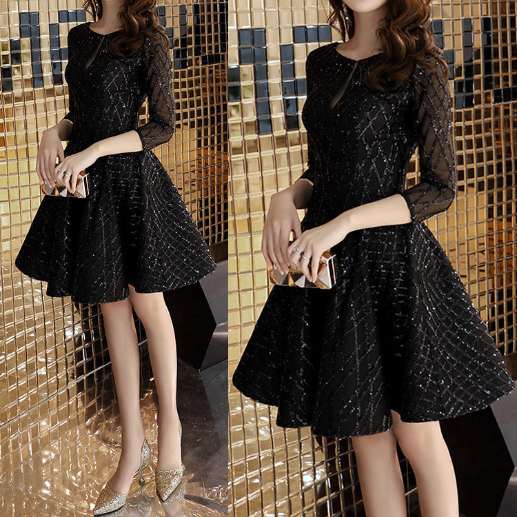 #6131 Black Evening party party dress ( New Arrivals )