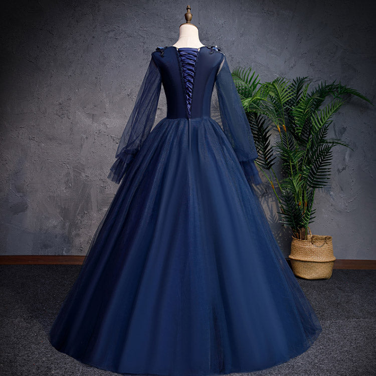 #6260 Long sleeve flower banquet evening dress ( New Arrivals )