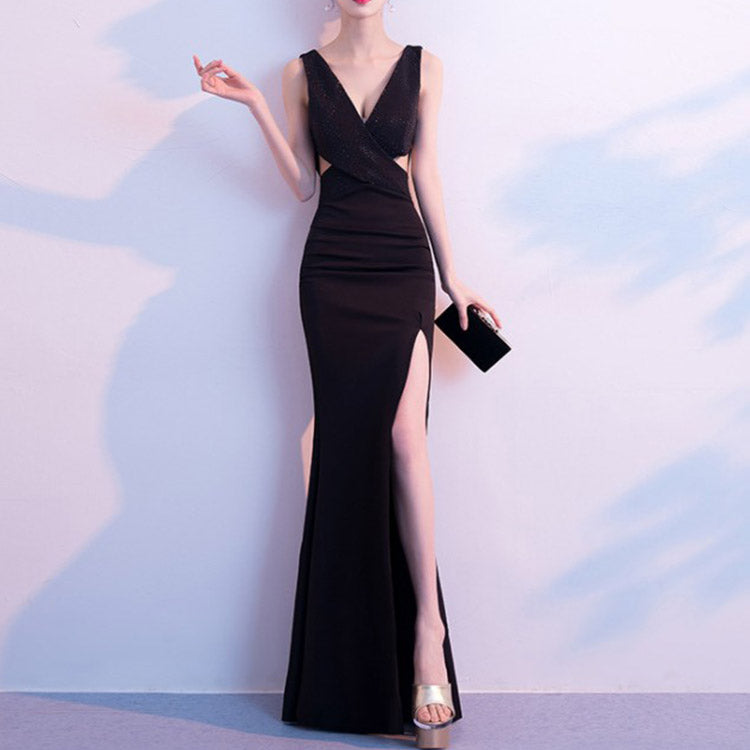 #6305 Long fishtail party evening dress ( New Arrivals )