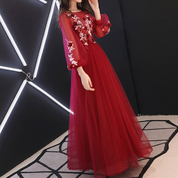 #6407 Embroidery Flower dress ( New Arrivals )
