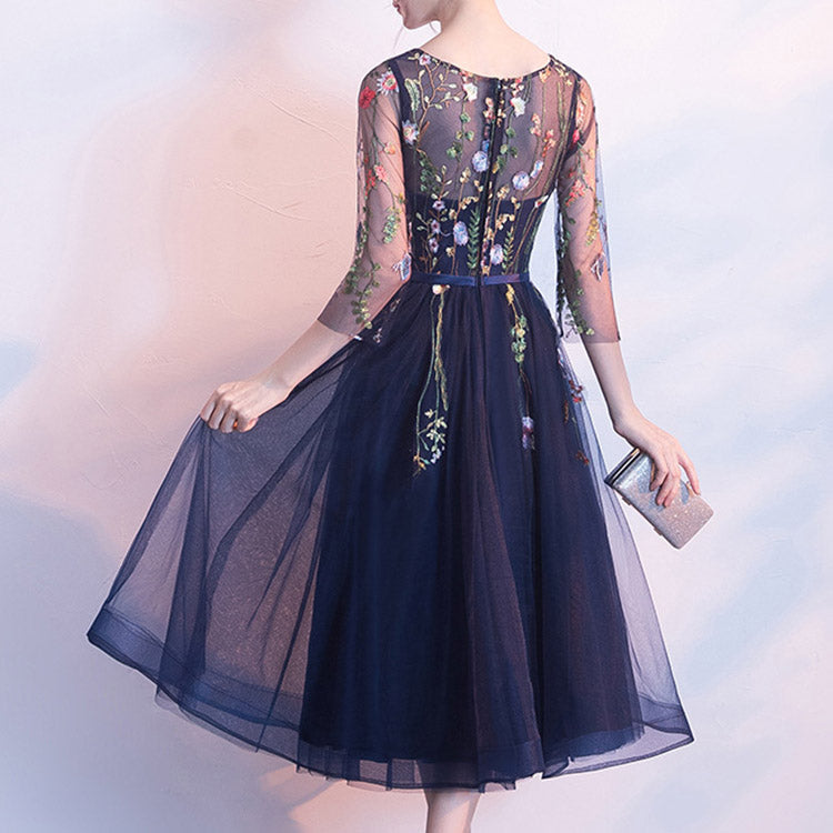 #6408 Embroidery party dress ( New Arrivals )