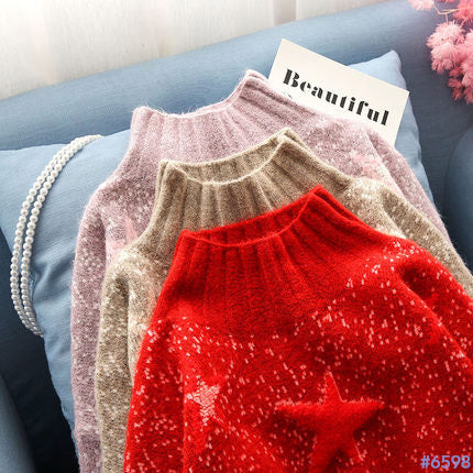 #6598 KNIT SWEATER TOPS