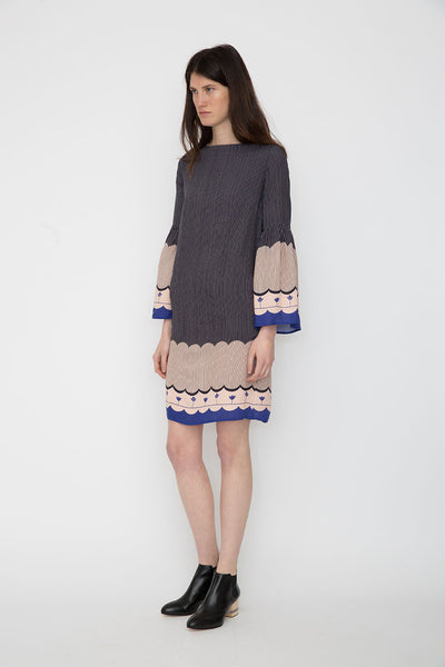 Mila Border Dress