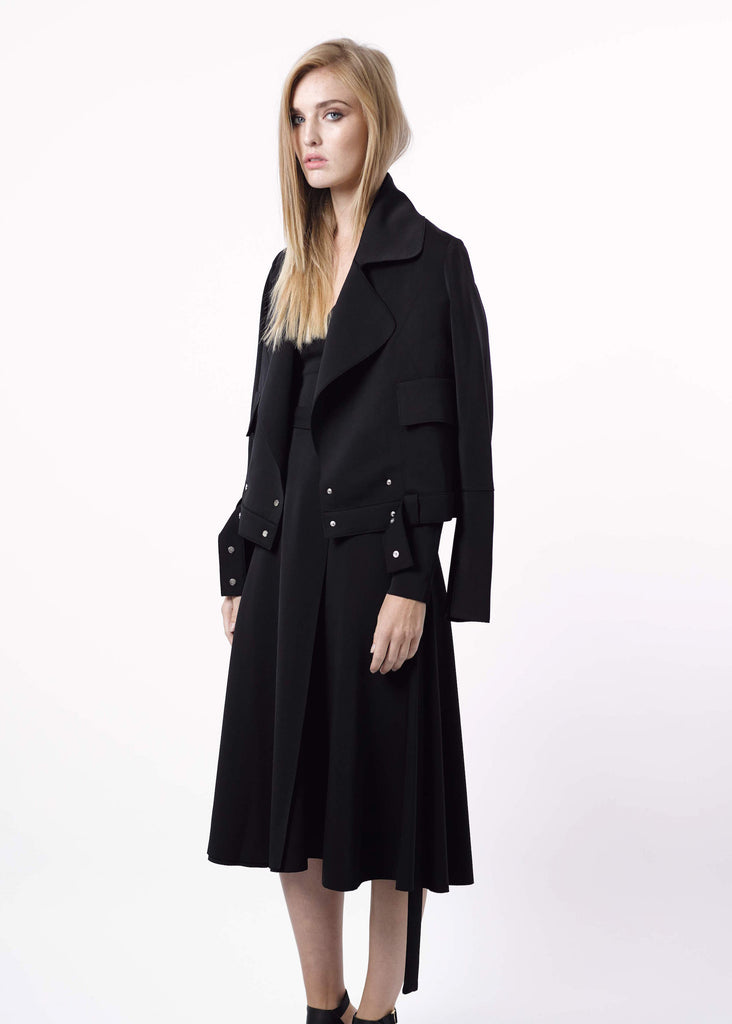 A-Line Jacket with Wide Collar