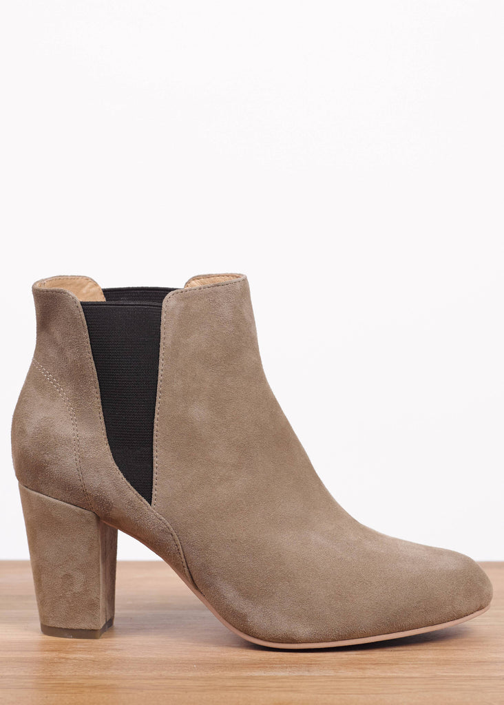 Hannah Ankle Boot Taupe Suede