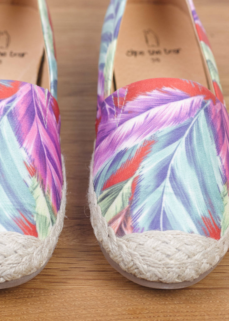 Feather Espadrilles Base Red Print