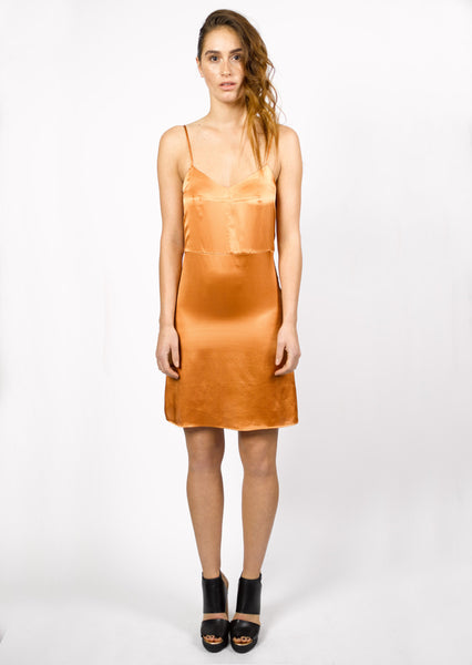Beanie Dress Copper Satin