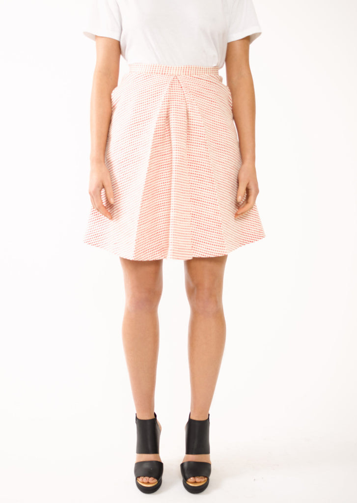 Box Pleat Woven Mini Skirt