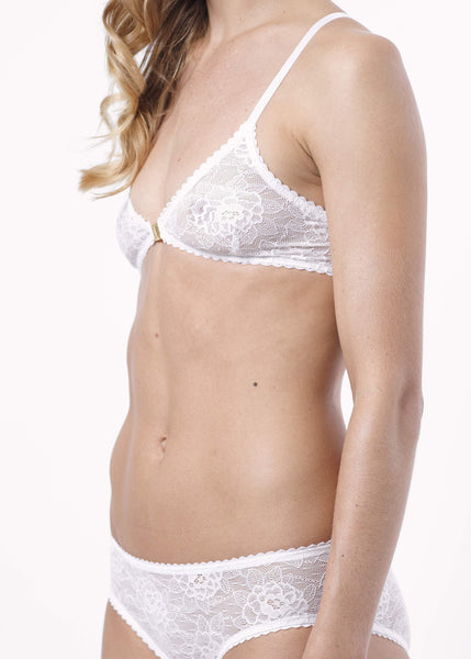 Soft Cup Lace Bra White